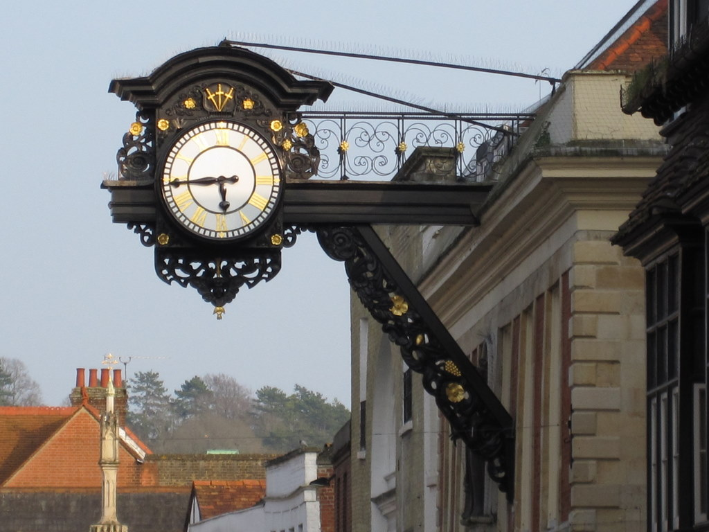 Uhr in Winchester, England