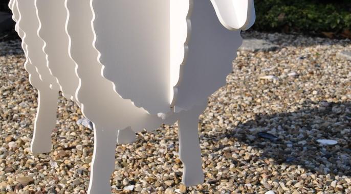Schaf aus einer Schaufensterdekoration
