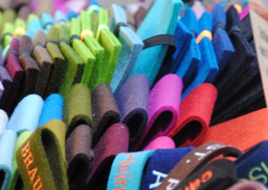 Filz in vielen Farben