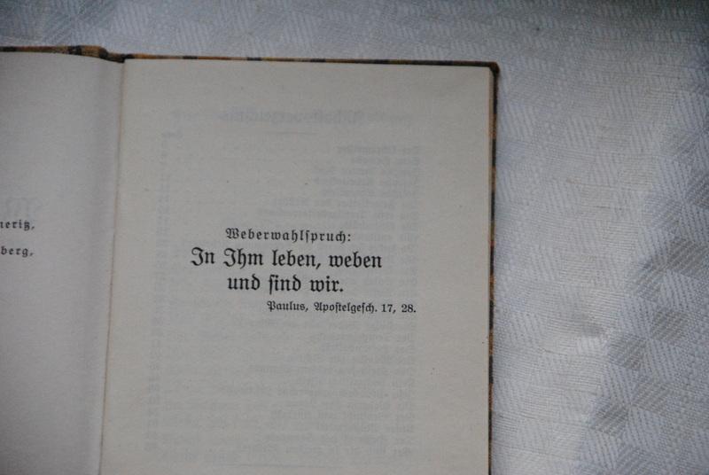 Weberwahlspruch