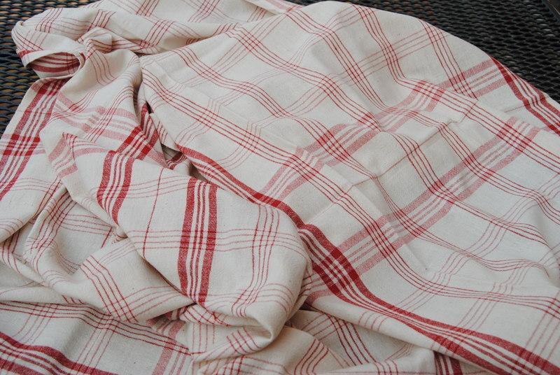 Leinenstoff gewebt für den Zuschnitt von 6 Handtüchern
