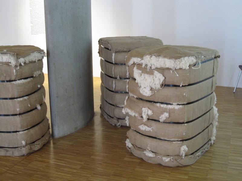 Baumwolle für den Transport verpackt
