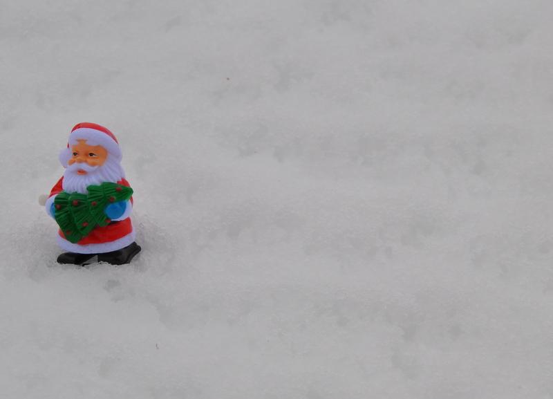 Weihnachtsmann zum Aufziehen