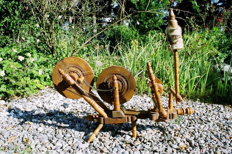Spinnrad mit Handkurbel aus der Türkei