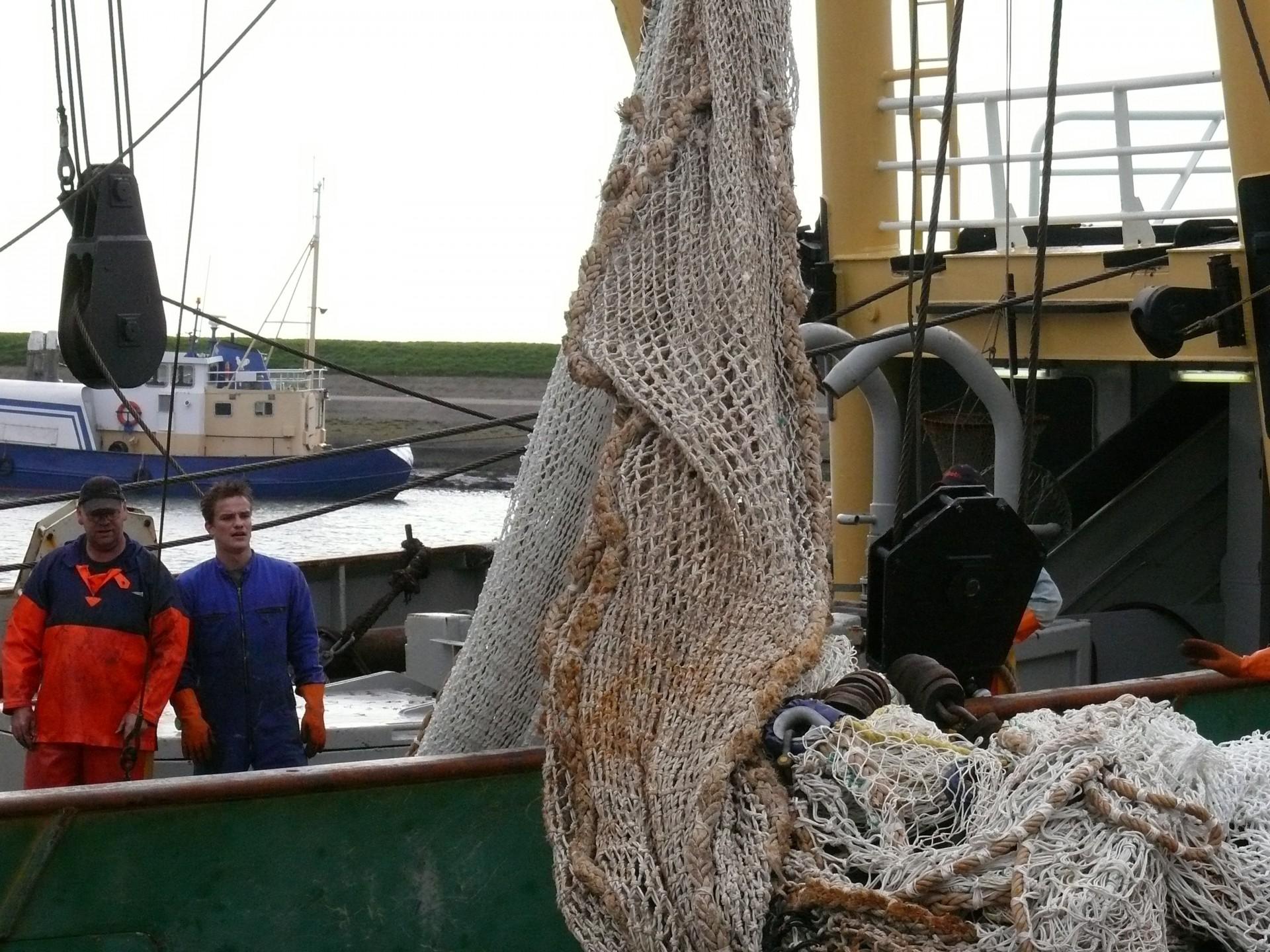 Fischernetze auf Texel, heute nicht mehr aus Pflanzenfasern
