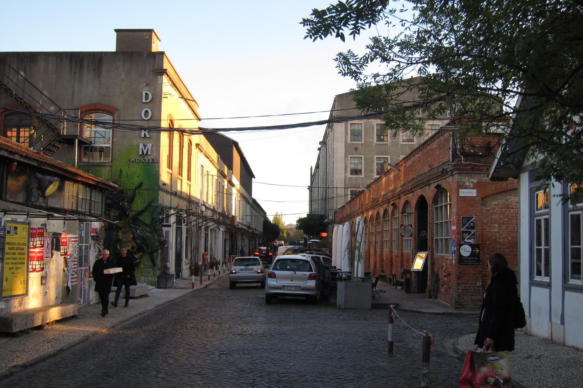 Straße in den ehemaligen Fabrikgelände