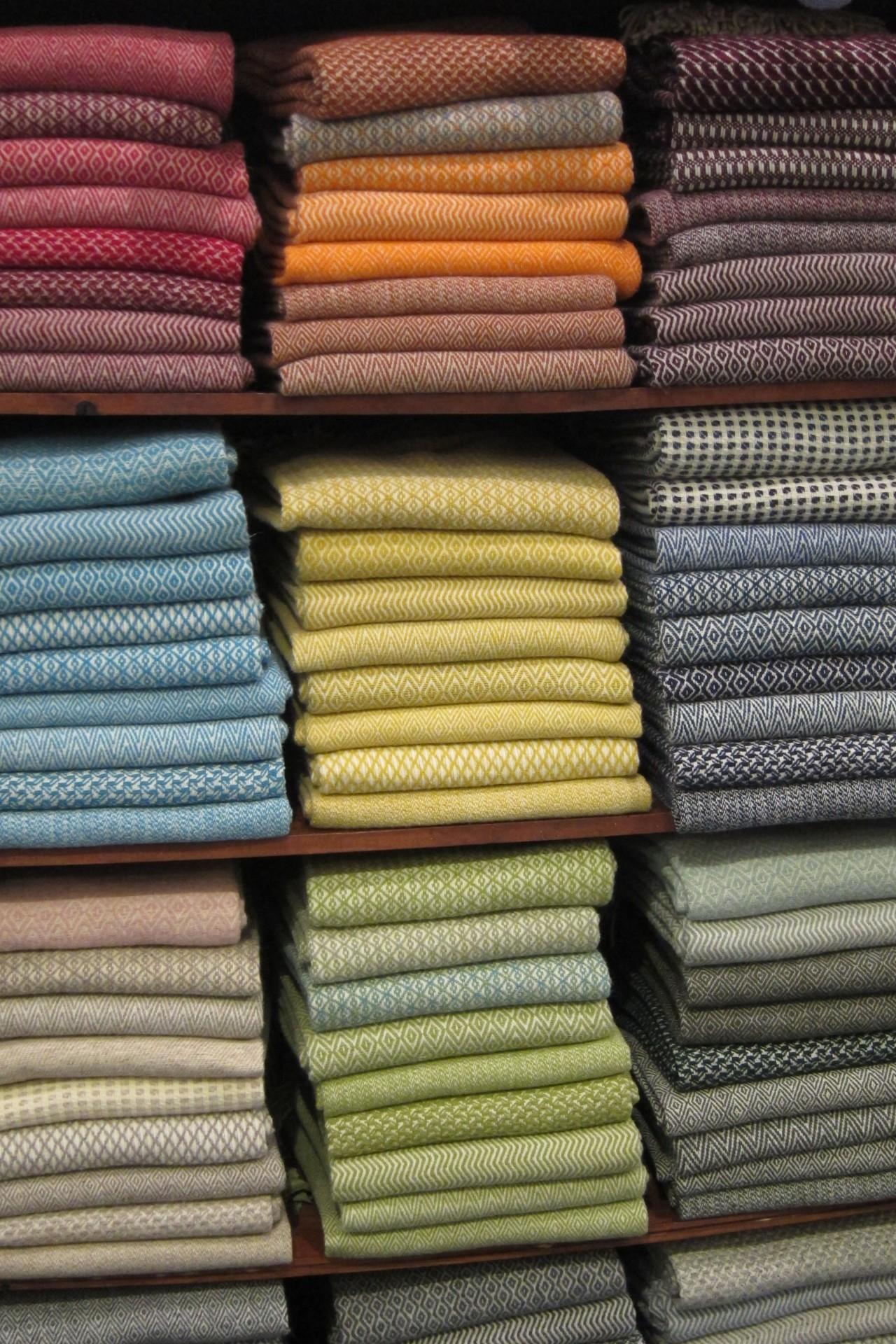 Decken in vielen Farben