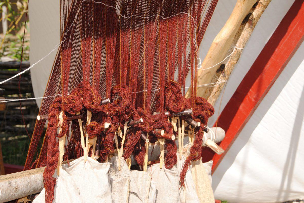 Wikingerliche Hochwebstuhlnachbau aus Schweden