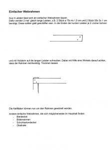 Anleitung für einen einfachen Webrahmen