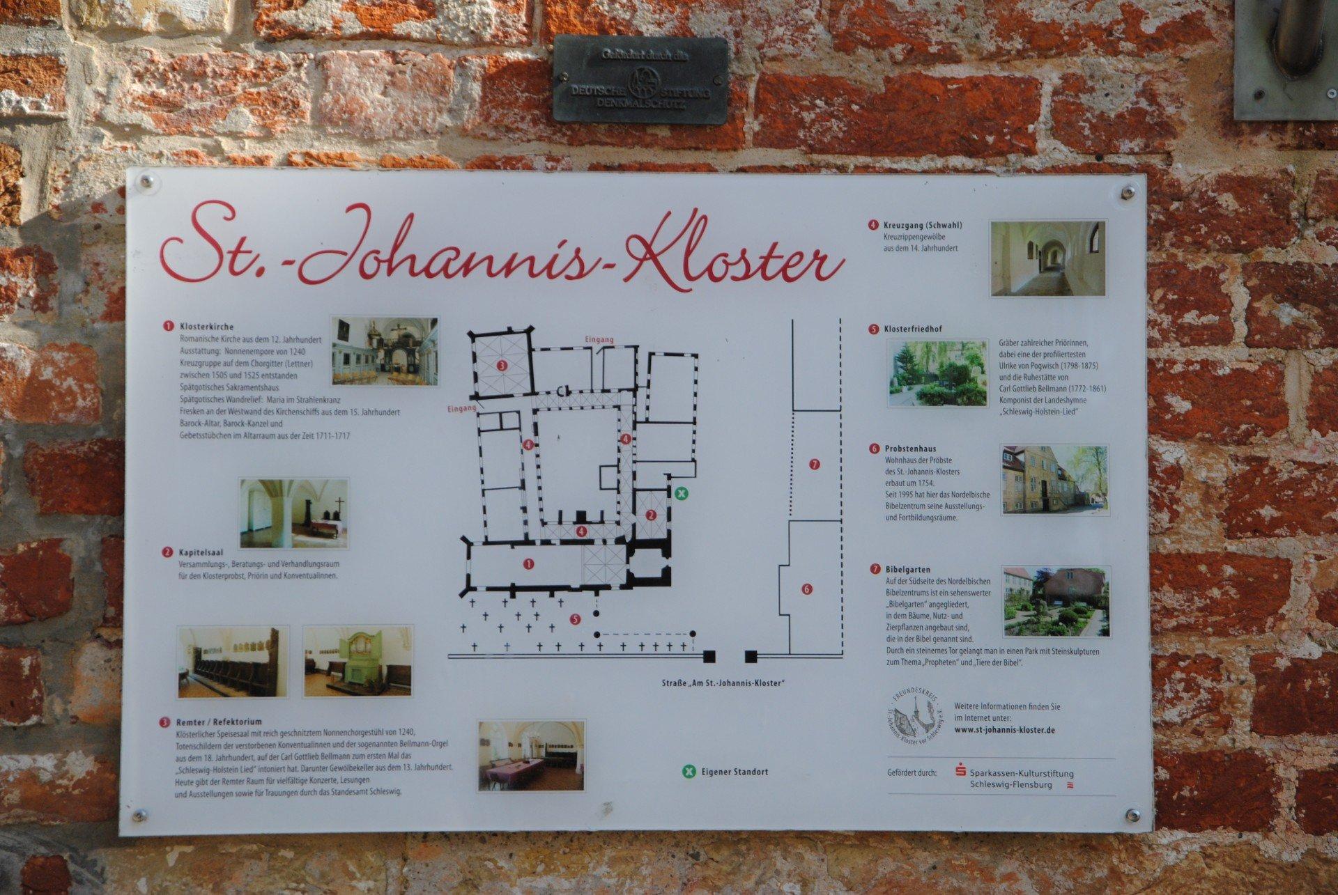 Tafel zum Johannis-Kloster in Schleswig