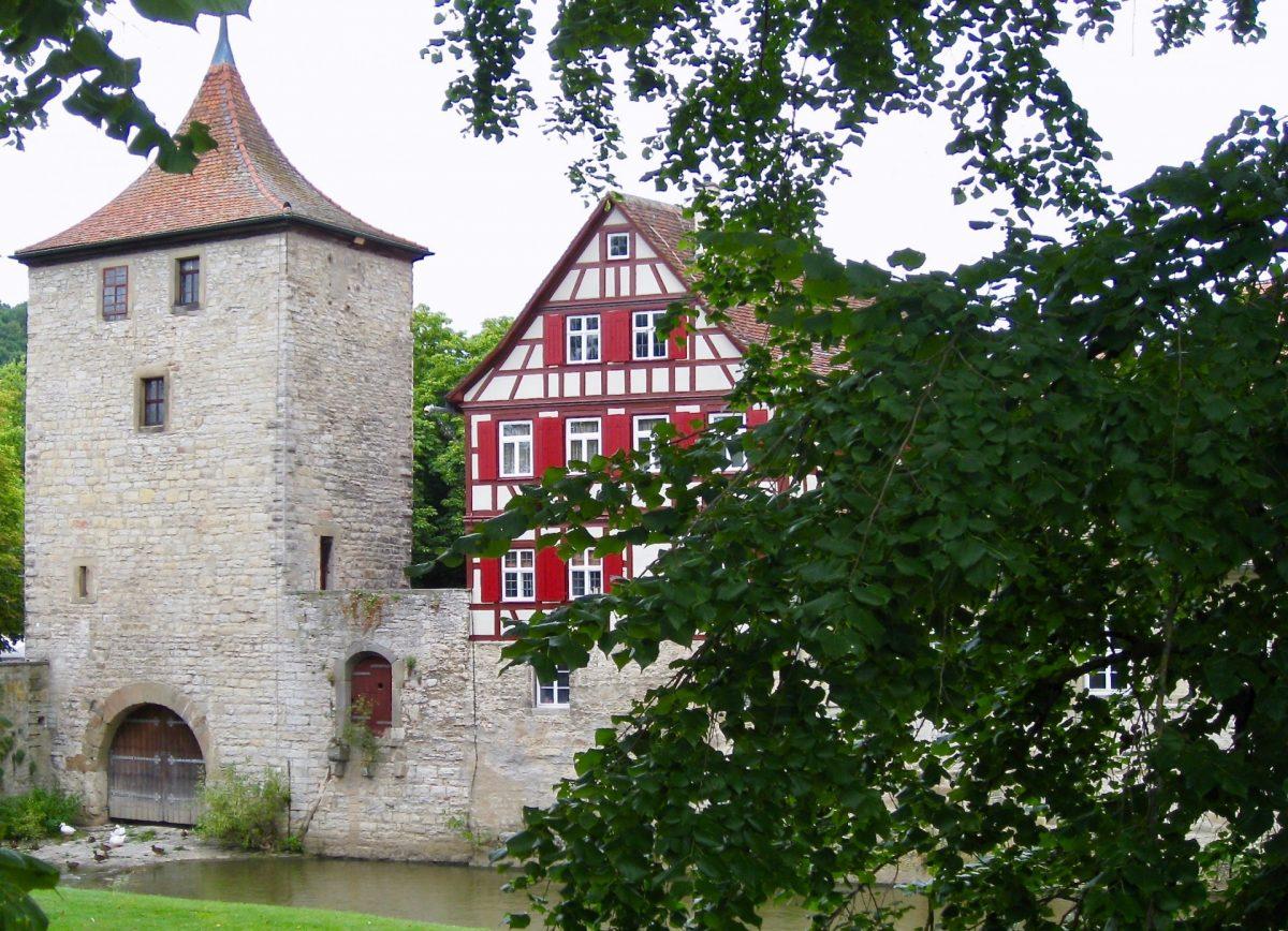 Teil der Stadtmauer in Schwäbisch Hall