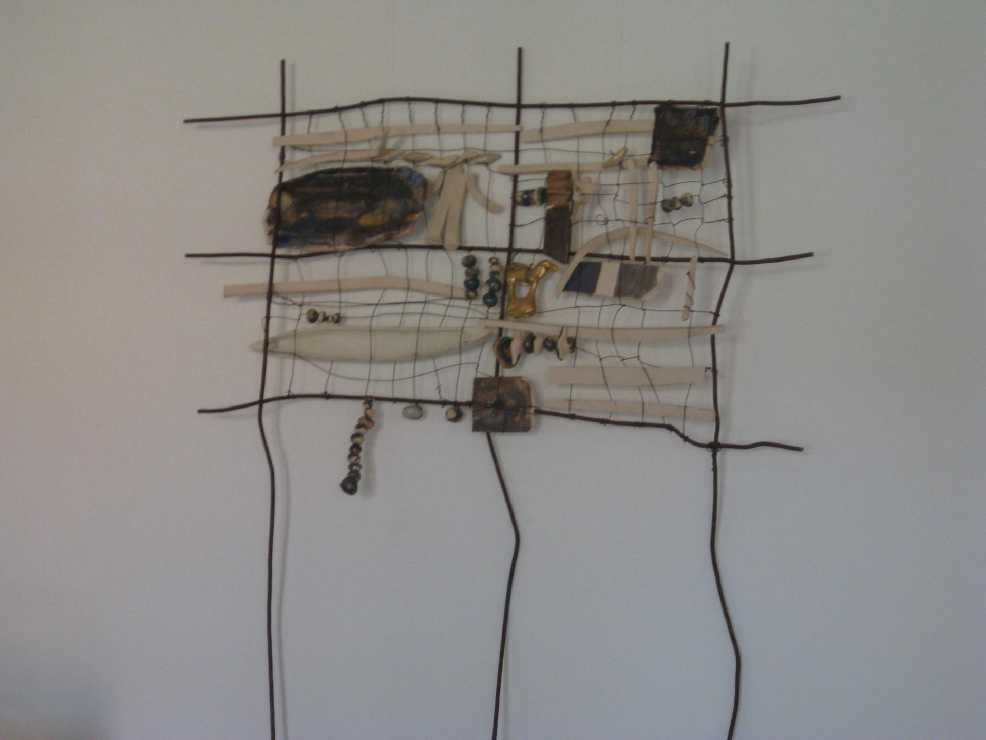 Netzwerk der Arachne, Skulptur von Ursula Dietze