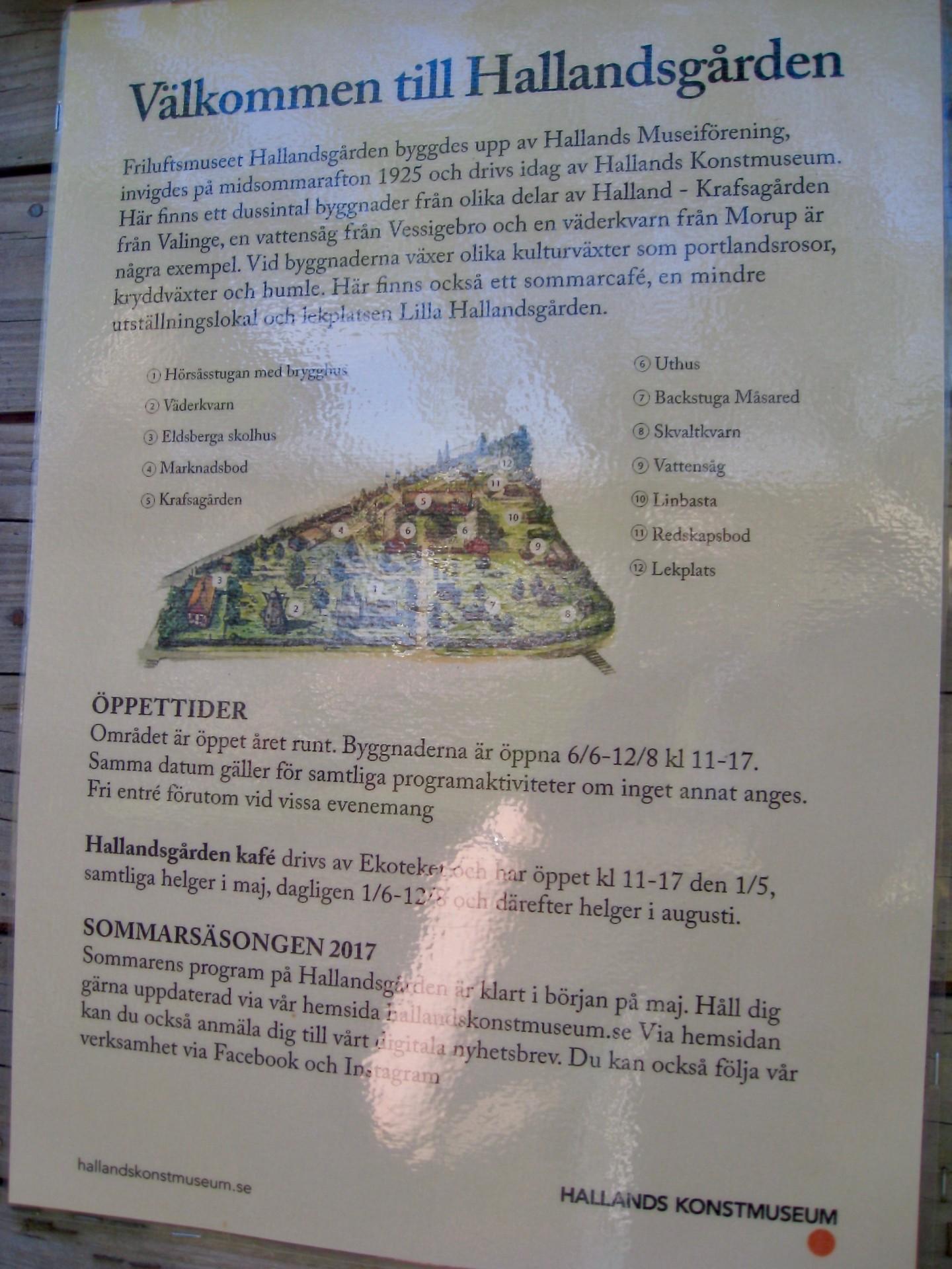 Schild zum Museum