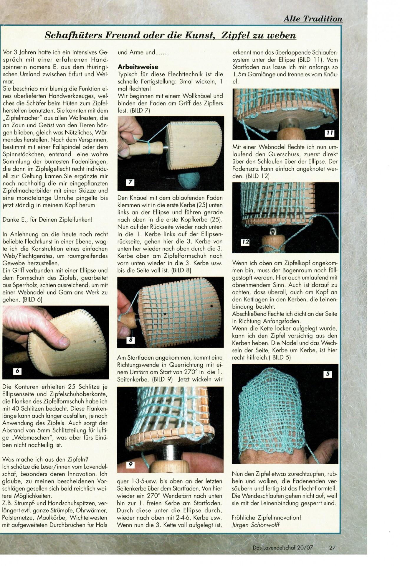 Beitrag aus dem Lavendelschaf Nr. 20 aus dem Jahr 2007